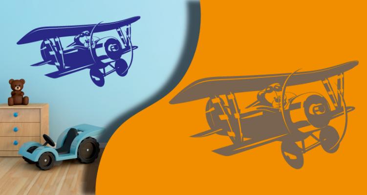 Stickers avion 3 (PARADISE Déco)
