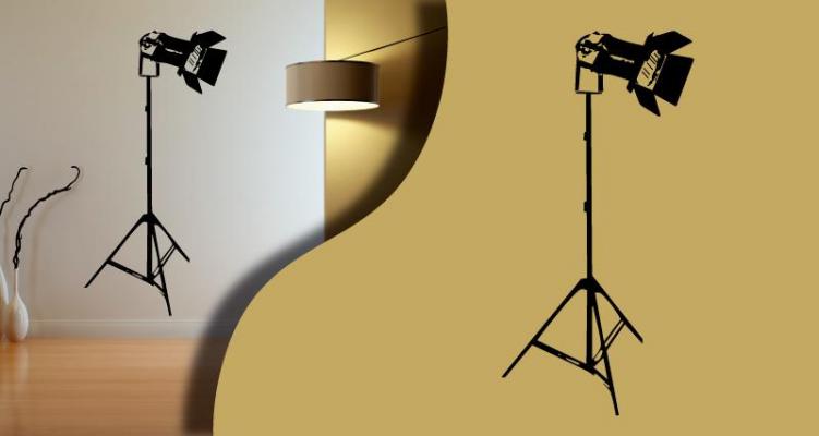 stickers projecteur sur pied. Black Bedroom Furniture Sets. Home Design Ideas