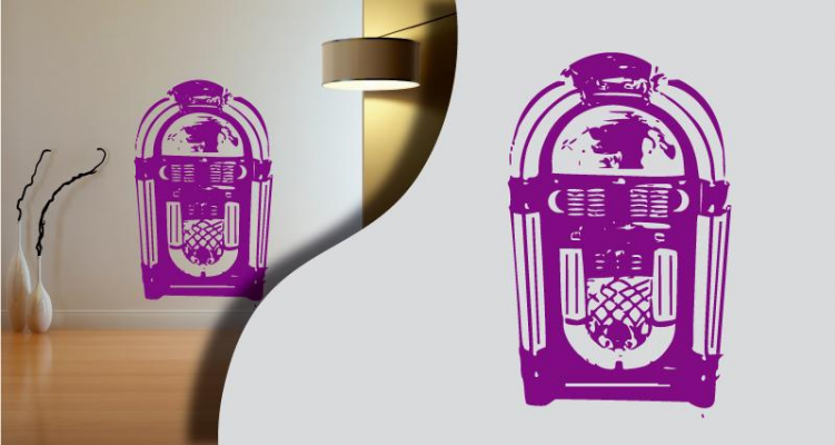 Stickers jukebox (PARADISE Déco)