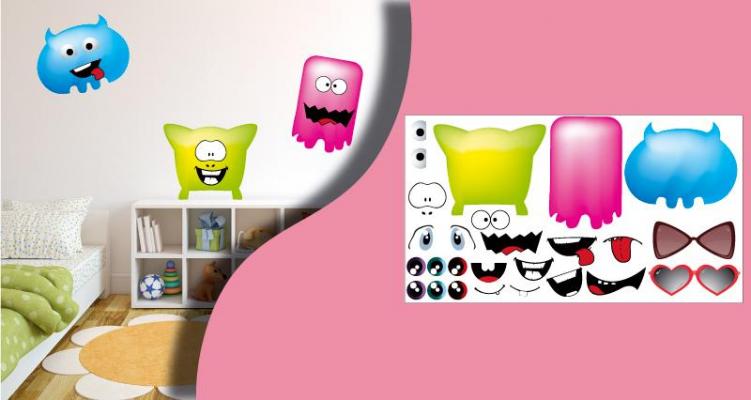 Stickers monstres personnalisables (PARADISE Déco)