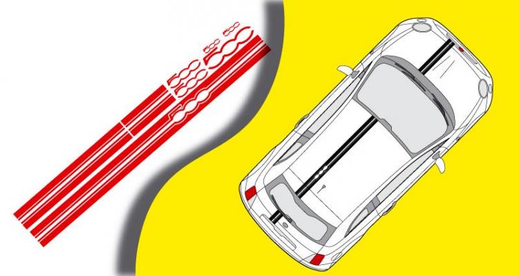 Stickers bandes Fiat 500 (PARADISE Déco)