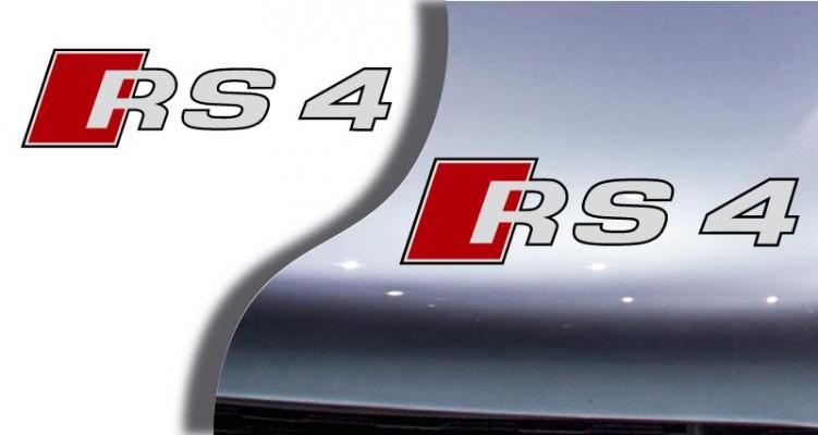 Stickers logo audi RS4 (PARADISE Déco)