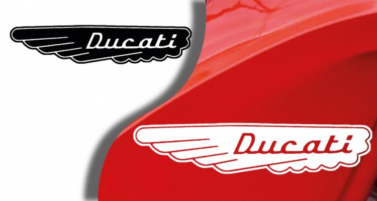 Stickers ducati ancien modèle 4 (PARADISE Déco)