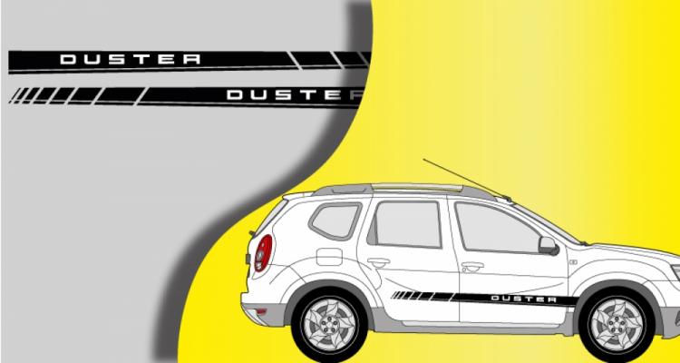 Stickers Dacia bandes latérales Duster (PARADISE Déco)