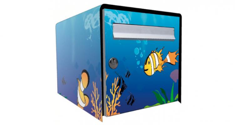 Stickers boite aux lettres aquarium (PARADISE Déco)