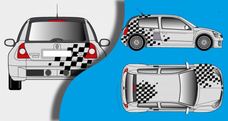 Stickers renault clio V6 N4 (PARADISE Déco)