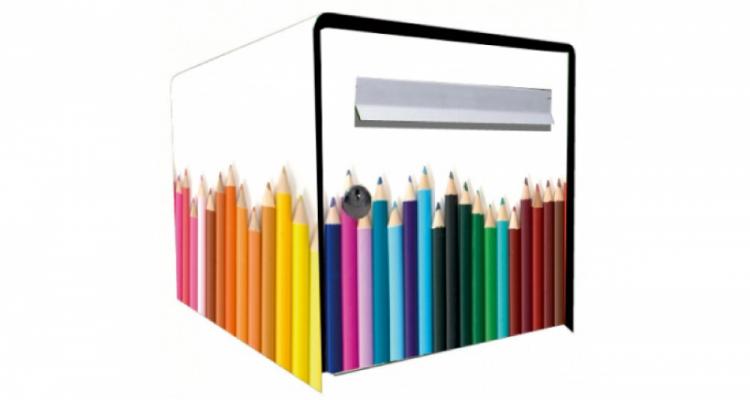 Stickers face avant boite crayon (PARADISE Déco)