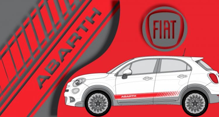 Stickers Fiat 500x abarth latéral (PARADISE Déco)