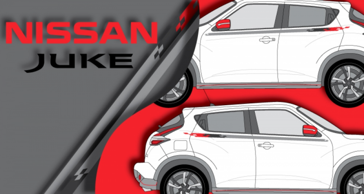Stickers nissan juke bande nismo (PARADISE Déco)