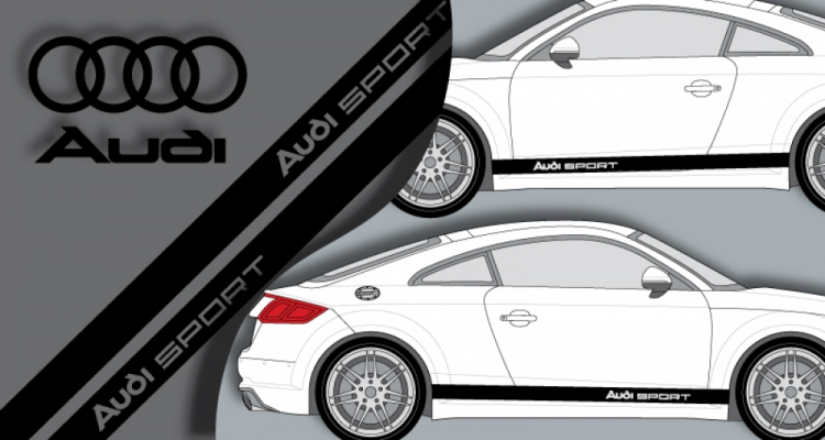 Stickers audi sport bande lateral (PARADISE Déco)
