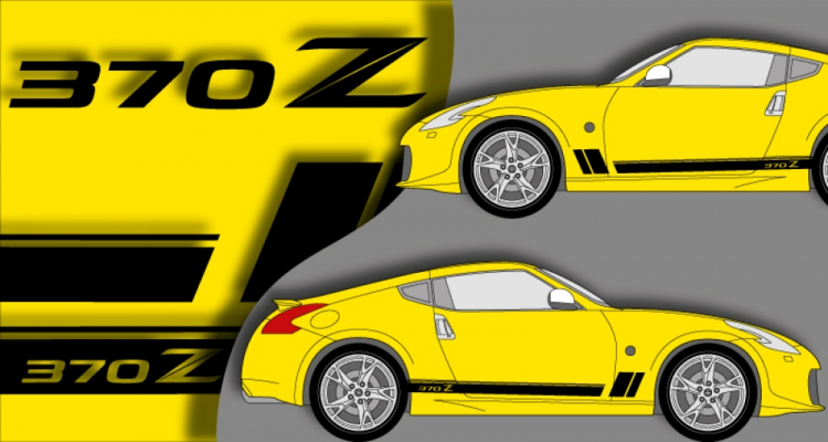 Stickers Nismo 370z laterales (PARADISE Déco)