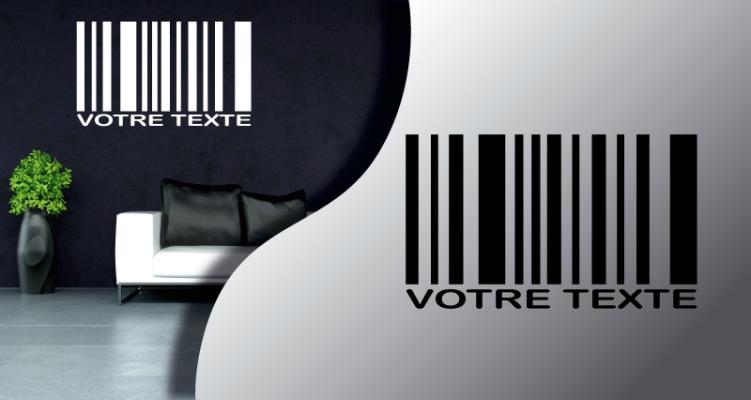 Stickers code barre (PARADISE Déco)