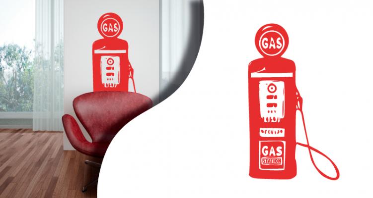 Stickers pompe essence (PARADISE Déco)