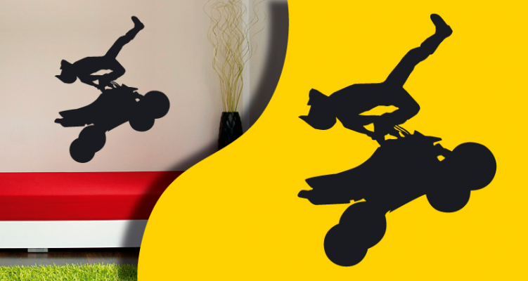 Stickers silhouette quad 2 (PARADISE Déco)