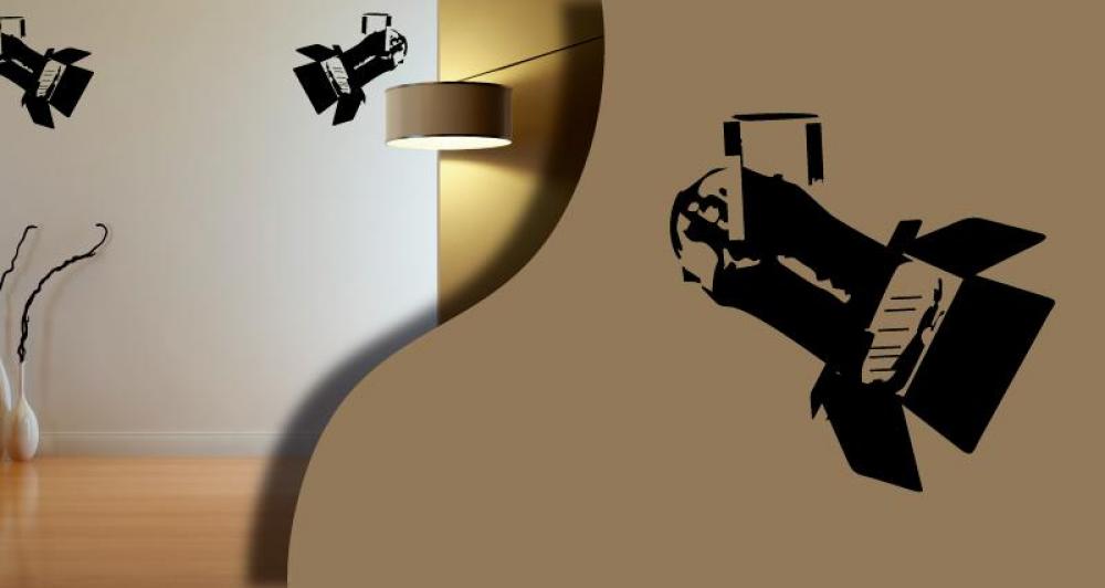 stickers projecteur cinema. Black Bedroom Furniture Sets. Home Design Ideas