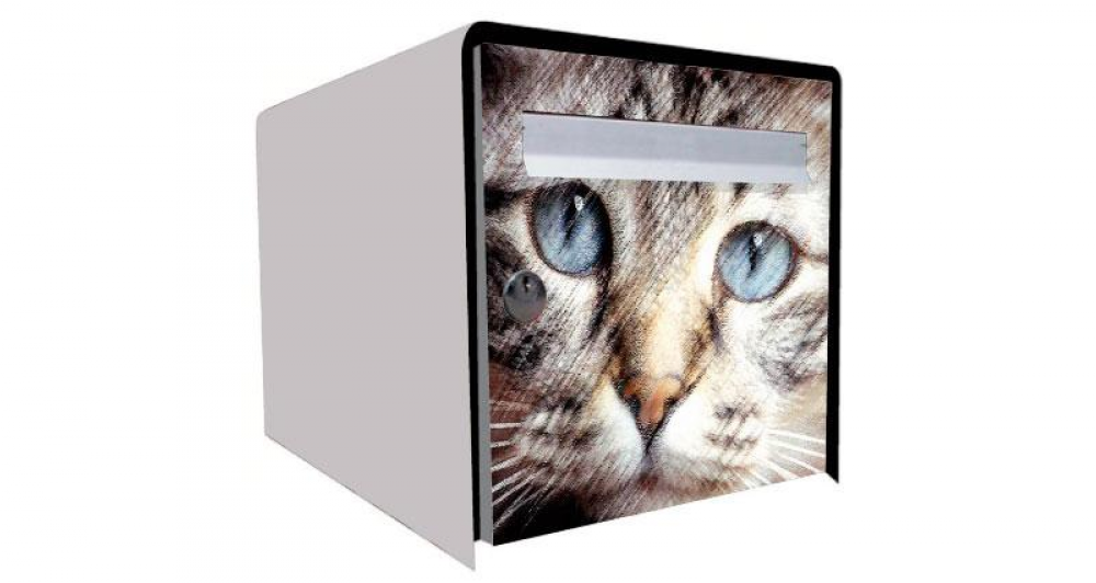stickers boite aux lettres chat. Black Bedroom Furniture Sets. Home Design Ideas