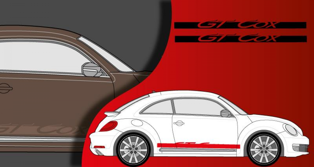 stickers vw lat ral gt cox. Black Bedroom Furniture Sets. Home Design Ideas