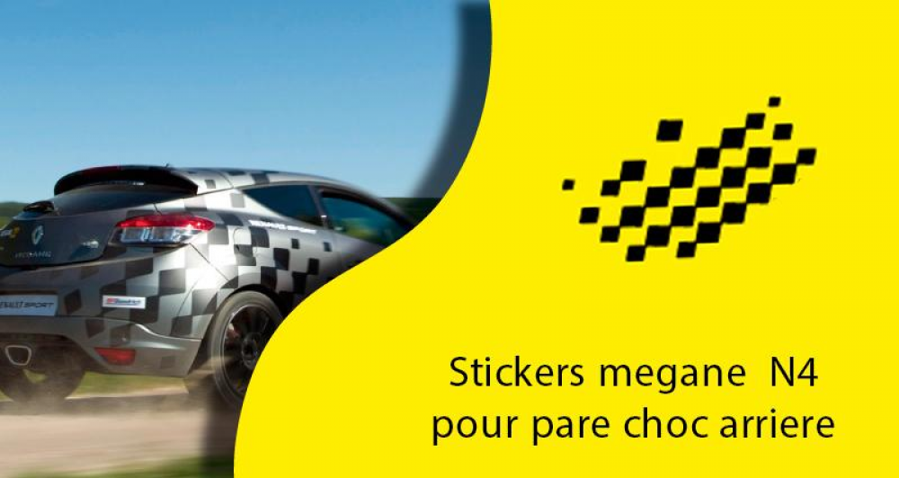 stickers renault megane n4 pare choc arriere. Black Bedroom Furniture Sets. Home Design Ideas