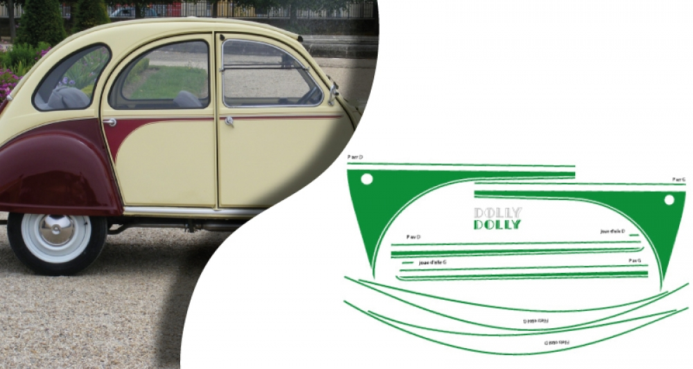 stickers citroen 2cv dolly