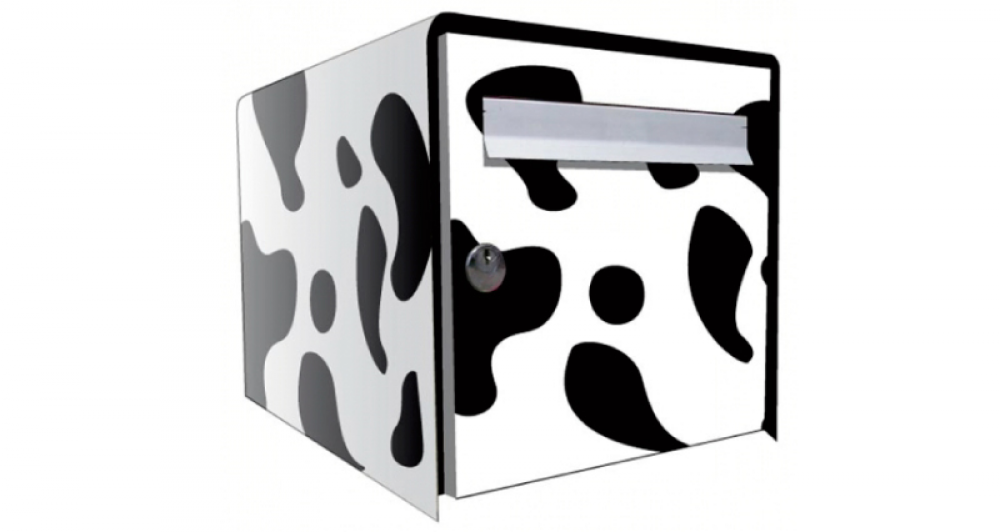stickers boite aux lettres vache. Black Bedroom Furniture Sets. Home Design Ideas