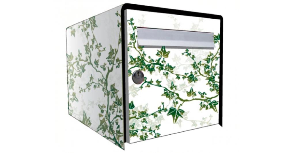 stickers boite aux lettres lierre. Black Bedroom Furniture Sets. Home Design Ideas