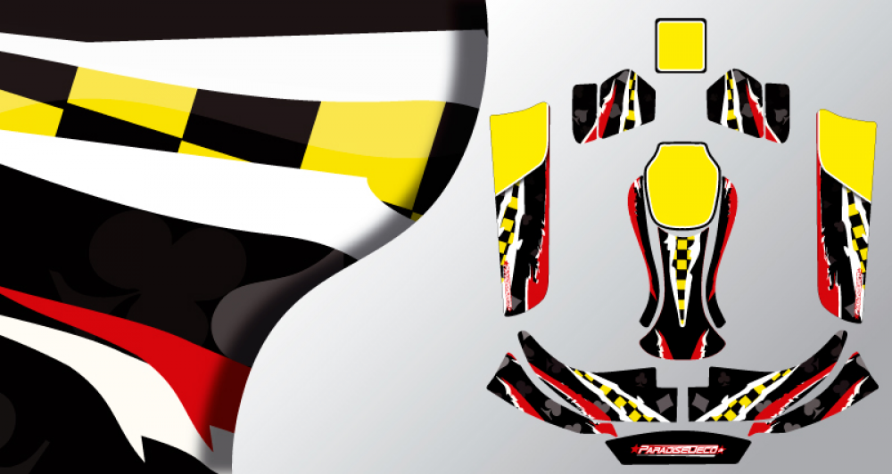 Kit d co karting kg evo joker for Deco karting
